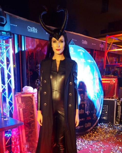Располневшая Могилевская обнажила грудь на Хэллоуин: фотофакт