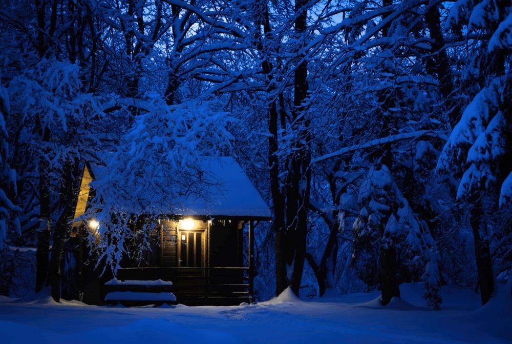 теплой зимней ночи картинки ручного вертолётика
