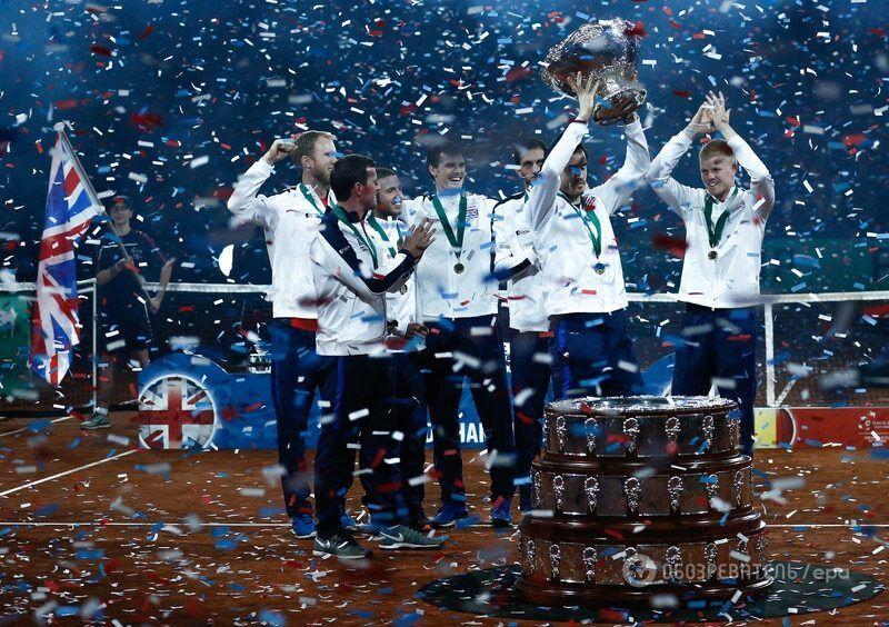 Великобритания впервые за 80 лет выиграла Кубок Дэвиса