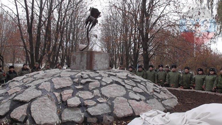 На зоні в Донецьку відкрили пам'ятник беркутівцям Януковича: фотофакт