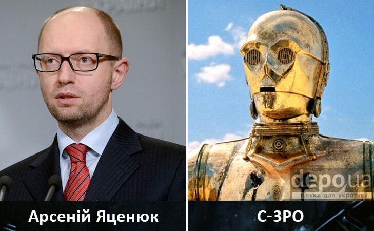 """У """"Зоряних війнах"""" виявили двійників Яценюка, Путіна і Тимошенко: опубліковані фото"""