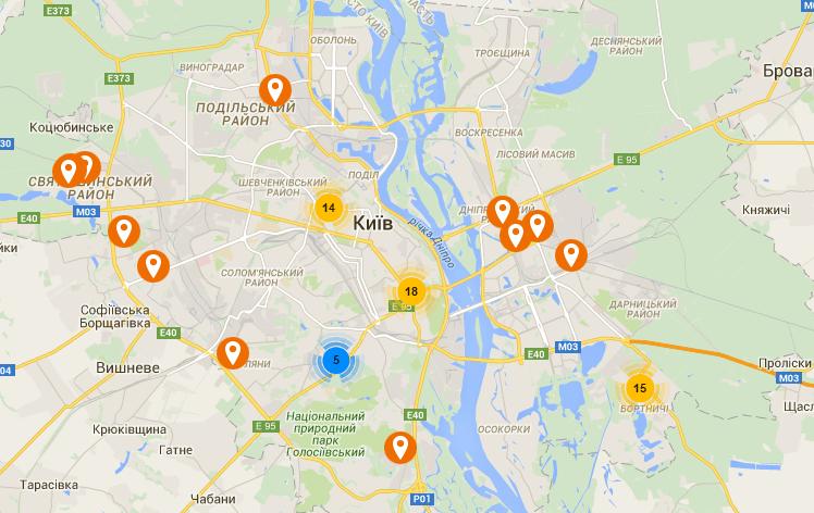 В Киеве составили карту переименованных улиц