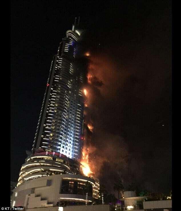 Бурдж халифа пожар фото