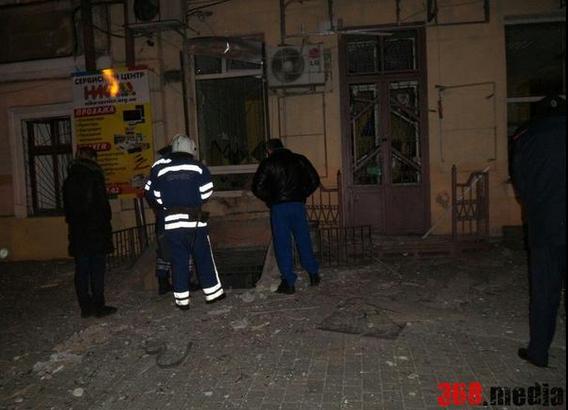 """В Одессе взорвали офис лидера """"Автомайдана"""": фото из соцсетей"""