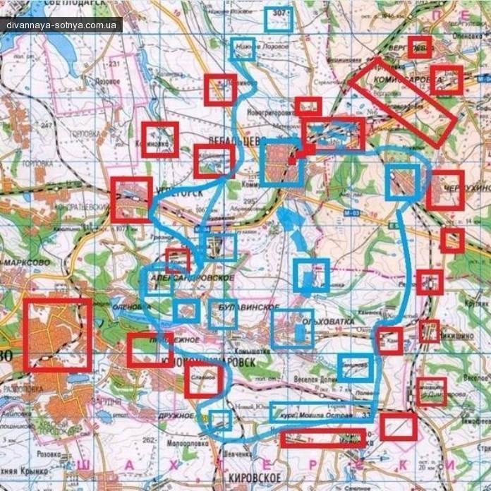 Дорога для выхода – есть: обнародована карта боев в Дебальцево