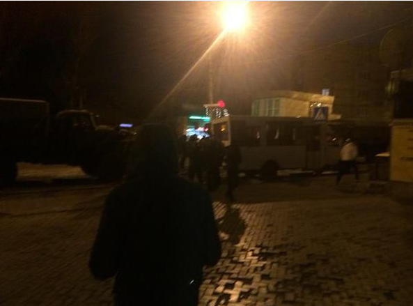 """В центре Донецка """"Урал"""" с пьяными террористами протаранил маршрутку: опубликованы фото"""