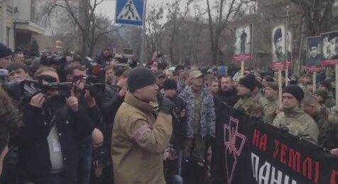 """Участники """"Марша правых"""" под МВД: сегодняшний марш мы пока проводим мирно"""