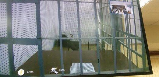 Савченко с трудом участвует в судилище в режиме видеоконференции, лежит и не может встать: фотофакт