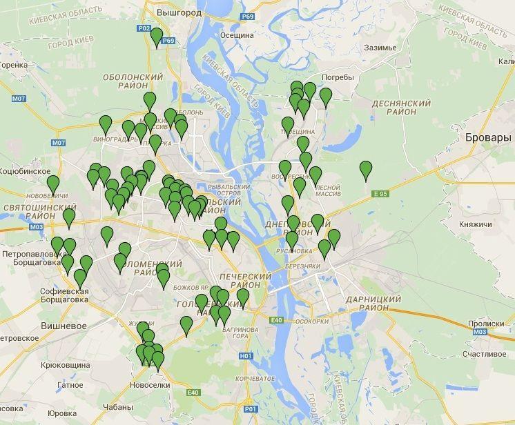 В Киеве создали онлайн-карту мест для выгула собак
