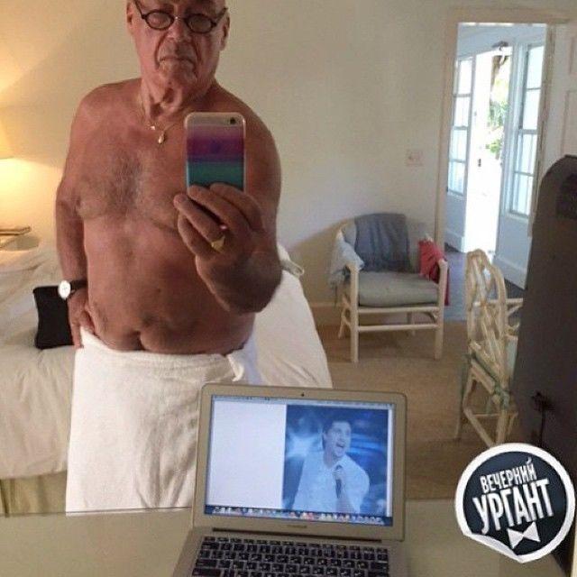 Седина в бороду: Познер принял вызов Билана и сделал селфи без одежды - фотофакт