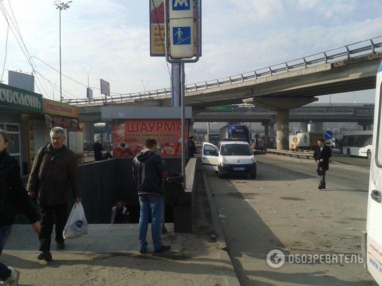 ЧП возле метро в Киеве: неизвестные устроили взрыв у подземного перехода