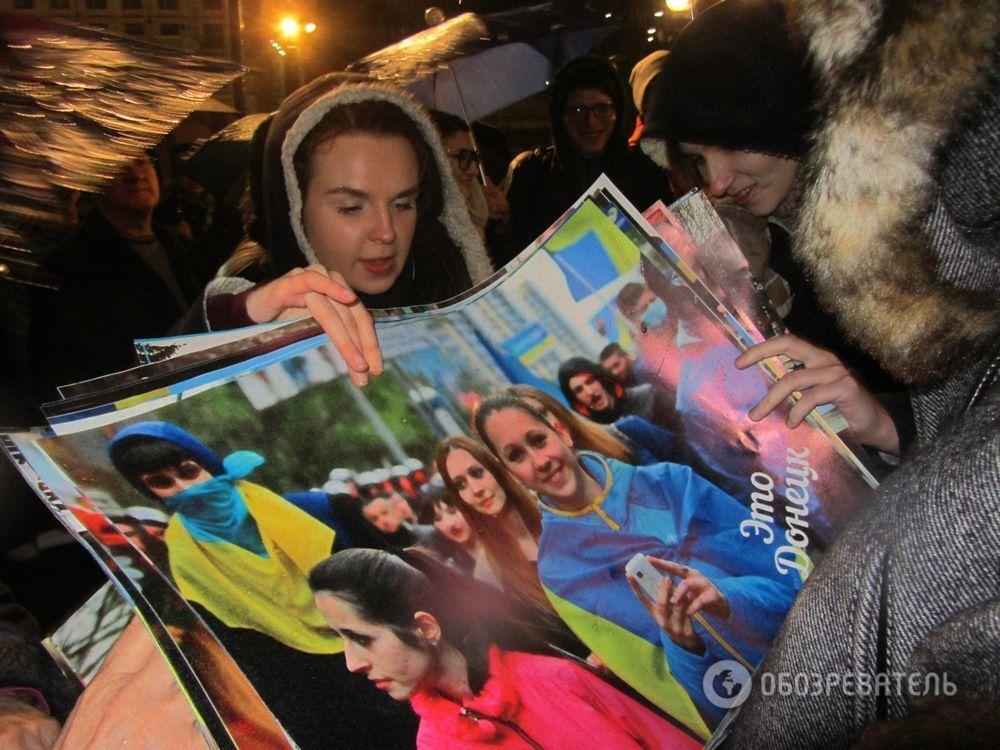 "Жители Донбасса ""захватили"" Майдан: фоторепортаж"