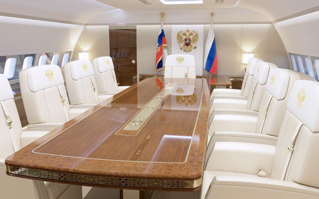 Опубликованы эскизы люксового самолета Путина с позолоченным унитазом