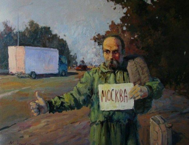 Художник увидел Тараса Шевченко с автоматом в зоне АТО: фото картин
