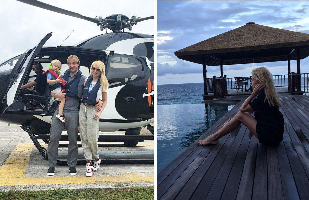 Назло кризису: Рудковская и Плющенко сняли на Сейшелах виллу стоимостью 4400 евро за ночь