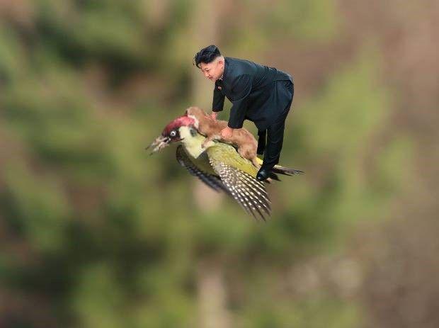 Кім Чен Ин, що нахилився, став героєм фотожаб: на ньому покатався навіть Путін