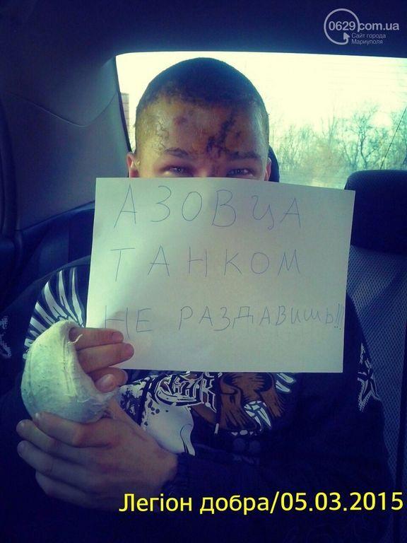 """""""Азовца"""" танком не раздавишь!"""". Боевики пытались переехать украинского бойца"""