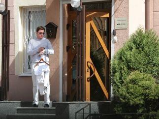 Гламурный Олесь Довгий занимается пилатесом в элитном фитнес-клубе