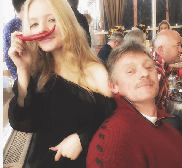 Папины усы и полуголое тело: дочь спикера Путина в Instagram
