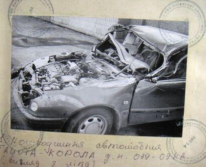 Так выглядела машина Вячеслава Черновола после аварии. Фото: novaya.com.ua