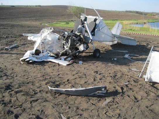 Под Киевом упал самолет: пилот и пассажирка госпитализированы