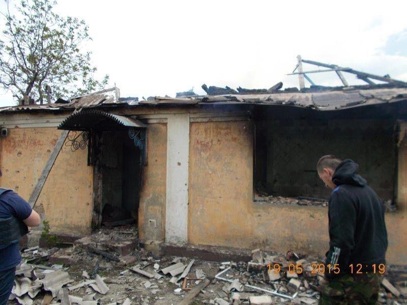 Терористи обстріляли Піски фосфорними боєприпасами: опубліковані фото