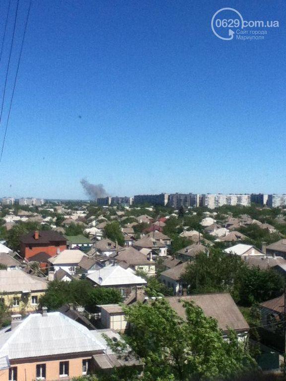 Мариупольчан напугал сильный взрыв на блокпосту и клубы дыма