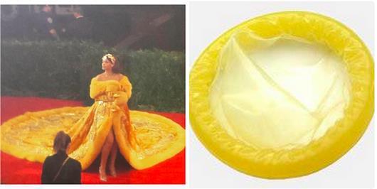 """Рианна пришла на бал в """"платье-яичнице"""" и стала звездой интернета"""