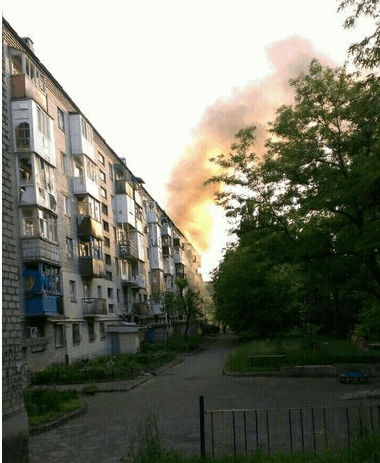 Донецк в огне: фото города после массированного обстрела