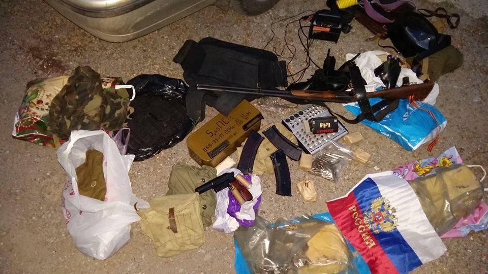 На Донбассе обнаружен тайник террористов с 12 кг взрывчатки