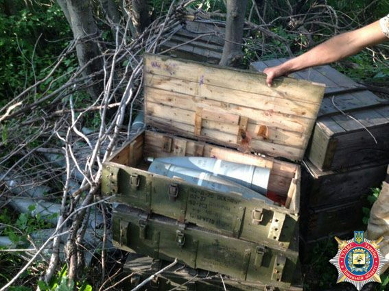 Под Волновахой обнаружен тайник с боеприпасами террористов