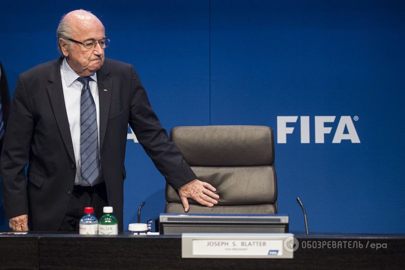 Блаттер сдался! Президент ФИФА ушел в отставку