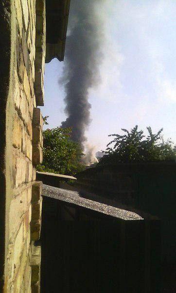 В Донецке после обстрела загорелся конно-спортивный центр экс-нардепа