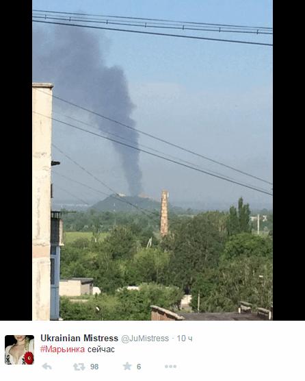 Атака террористов на Марьинку: подробности, фото и видео