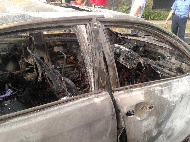 У Луцьку вибухнув автомобіль: постраждав водій. Опубліковані фото