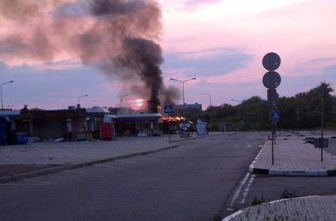 """В Донецке сгорел автовокзал """"Западный"""": фото"""