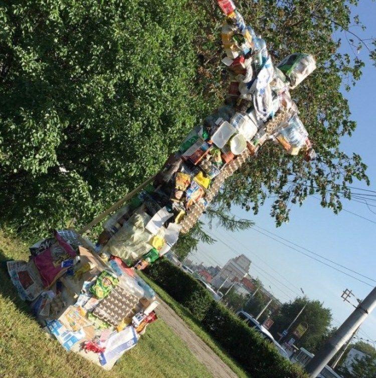 В России создателей статуи мусорного Иисуса обвинили в экстремизме