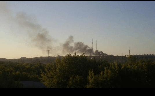 В Донецке вспыхнул сильный пожар