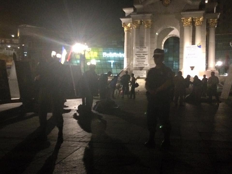"""""""Майдан"""" 3.0. Палатки снесли, организатора задержали: фото из соцсети"""