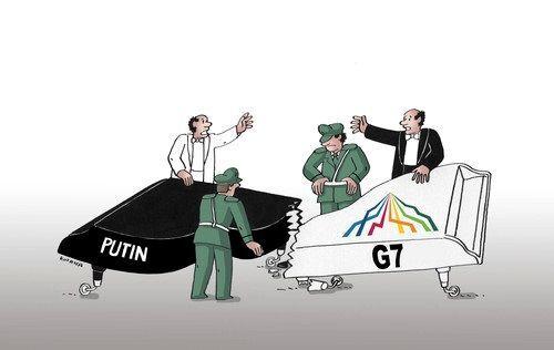 """Путин на G1: соцсети взорвались фотоприколами на саммит """"Большой семерки"""""""
