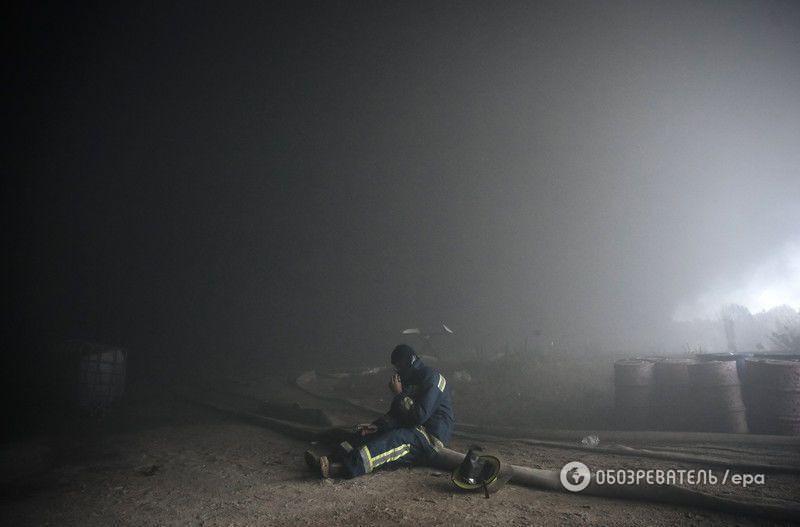 Пожар в Василькове: опубликовано видео с высоты птичьего полета