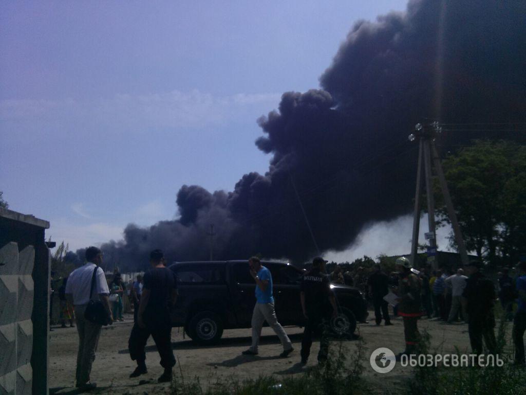 Пожар в Василькове: все подробности, фото и видео