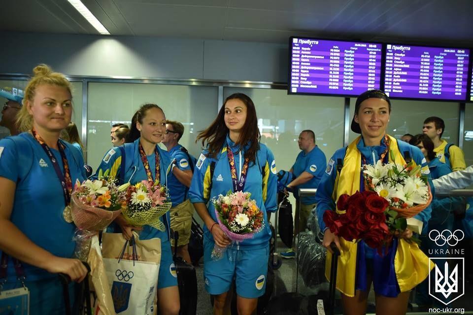 Как сборную Украины встречали с Европейских игр: эксклюзивное видео