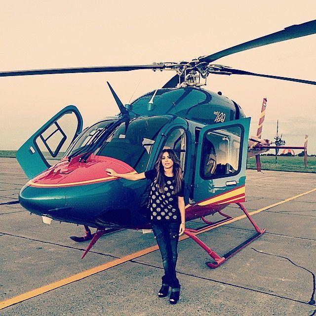 Ани Лорак похвасталась прогулкой на вертолете в Ростове-на-Дону