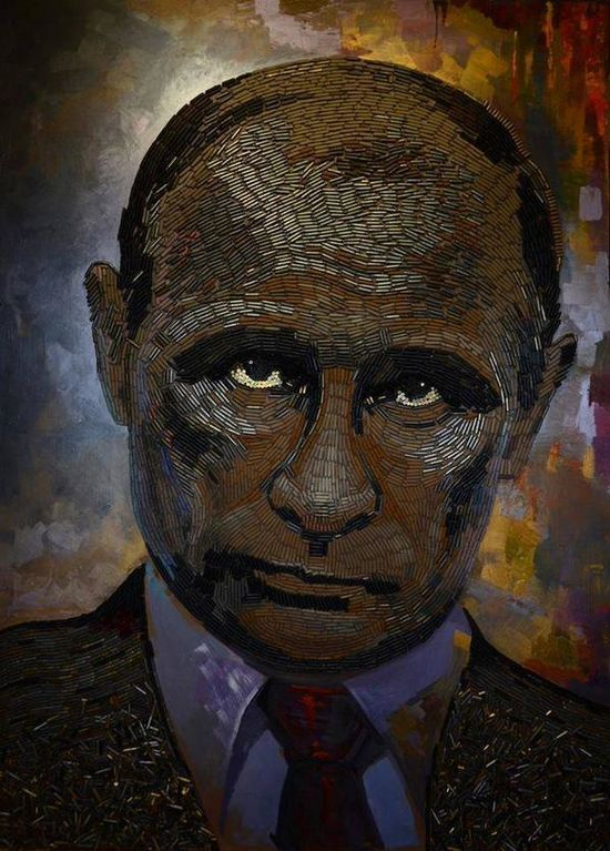 """Художниця показала """"обличчя війни"""" на Донбасі з гільз: фотофакт"""