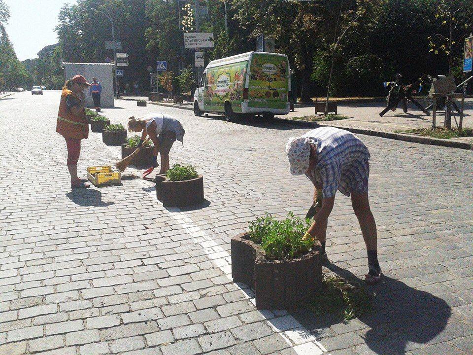 У Києві вулиця Інститутська стала пішохідною: фотофакт