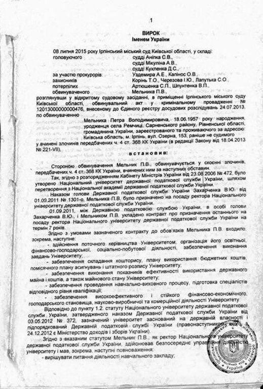 Оправдавших ректора Мельника трех судей нужно люстрировать – нардеп