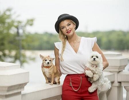 Ириша Блохина показала своих собак, которые облетели полмира