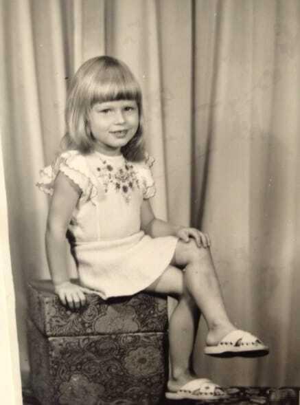 33-летняя Ольга Фреймут показала, какой была в детстве