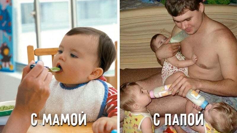 Смешные картинки мамы и папы, день рождения детям